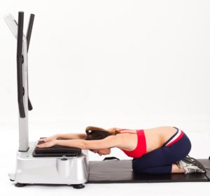 preacher stretch on the whole body vibration machine