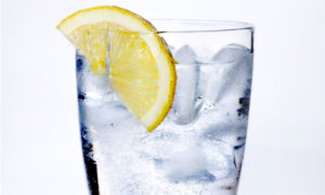 hydrate with a glass of water