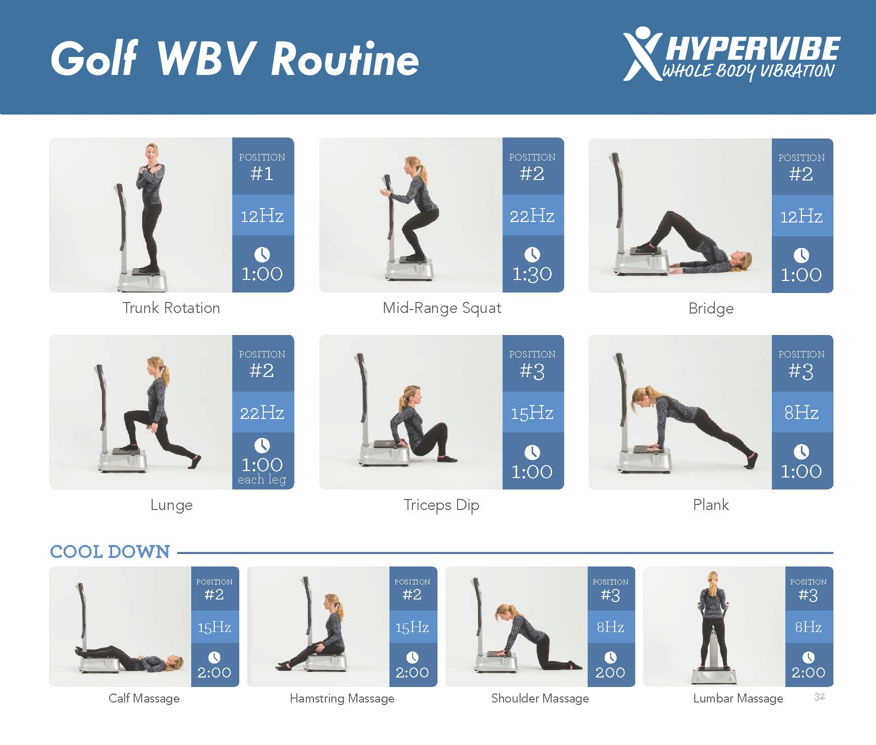 Whole Body Vibration Routine For Golf Players