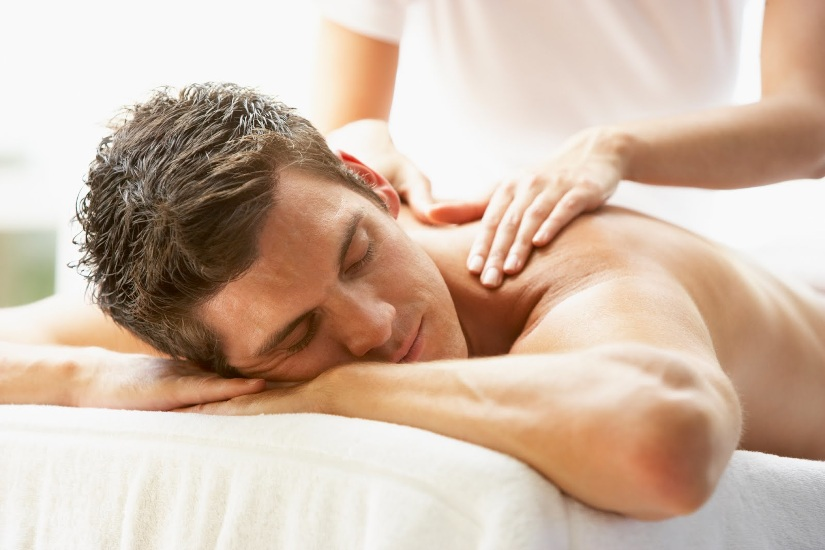 relaxing therapy massage