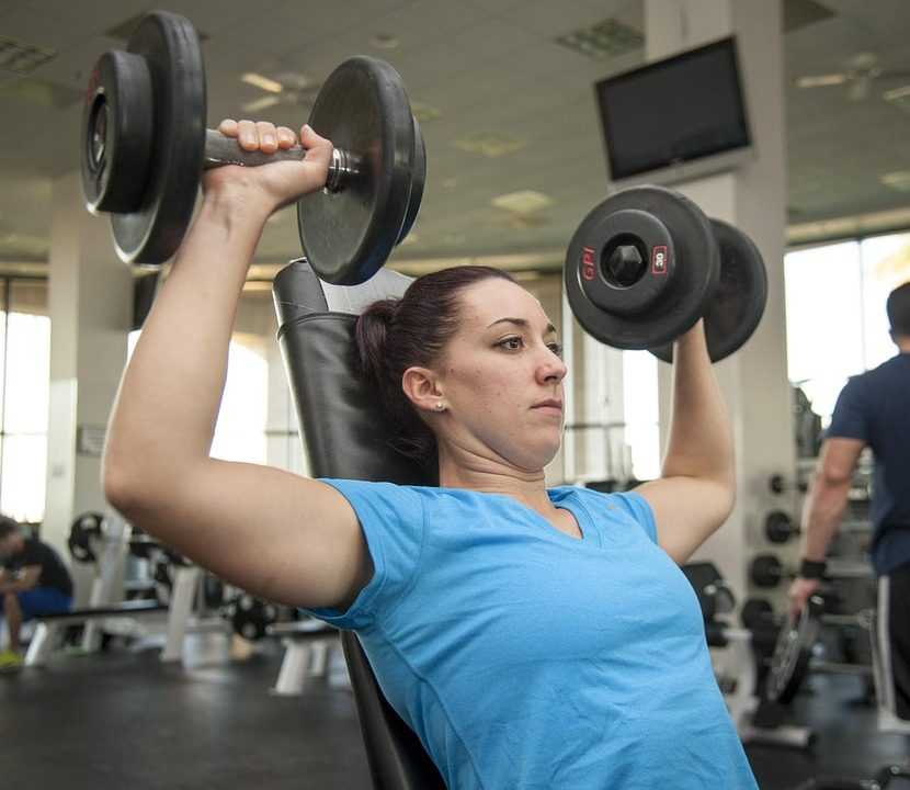 lifting weight at a gym