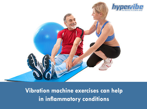 Vibration machine exercises can help in inflammatory conditions
