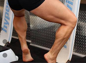Calf Exercise using Hypervibe Machine