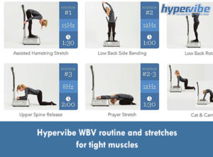 Hypervibe WBV routine and stretches for tight muscles