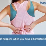 What happens when you have a herniated disc?