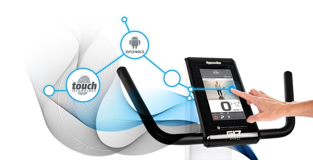 Hypervibe G17 touch technology